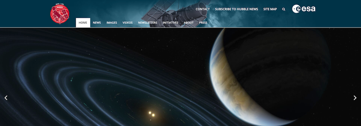 ESA/Hubble Website above the clouds